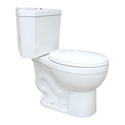 Renovators Supply - Corner Toilets White Corner Toilet Water Saver Dual Flush Rnd | 17668 - Corner Toilet with Dual Flush Technology: By using Dual Flush technology the EPA estimates homeowners save up to 25,000 gal. of water a year. How? Use 0.8 LOW flush for liquids and 1.6 HIGH flush for solid waste. Control your water usage to SAVE money and conserve water. Our G-Force high efficiency flush system technology lets you flush only ONCE! Eliminate the need to double flush. Ergonomic Perfect Height and round bowl makes using it safe and puts less strain on your body. Includes plastic toilet seat and convenient plastic faux chrome TOP flush. Measures 29 inch H x 30 inch projection