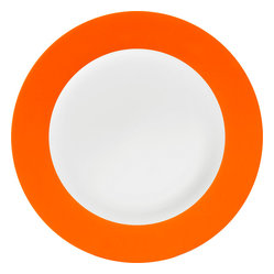 Konitz - Colors Set of 2 Salad Plates, Orange - You make a point to serve salads to your crew. Now go the extra mile and frame that freshness on these simply elegant two-tone salad plates (sold in pairs).