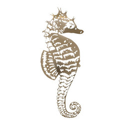 R Mended Metals - Sea Horse – Stainless Steel – Brushed Finish, Extra Large - Beautifully crafted, will weather outside even in caustic environments without worry of corrosion and rusting.
