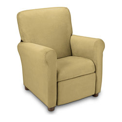 Ace Bayou - Ace Bayou Juvenile Recliner in Urban Brownstone Microfiber - High quality Microfiber fabric, Recline seating position, Great for reading, playing video games, watching TV, relaxing.