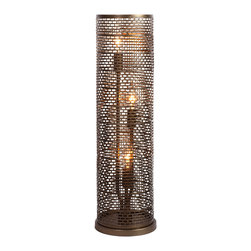 Varaluz - Varaluz 231T03NB Lit-Mesh Test 3 Light Table Lamps in New Bronze - This 3 light Table Lamp from the Lit-Mesh Test collection by Varaluz will enhance your home with a perfect mix of form and function. The features include a New Bronze finish applied by experts. This item qualifies for free shipping!