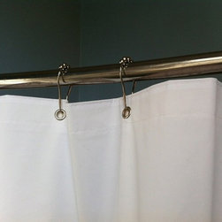 Polished Chrome Rolling Shower Curtain Rings - Set of 12 Heavy Duty Hooks - Classic shower curtain hooks are rust and corrosion resistant and work with any shower curtain or shower cutain liner.