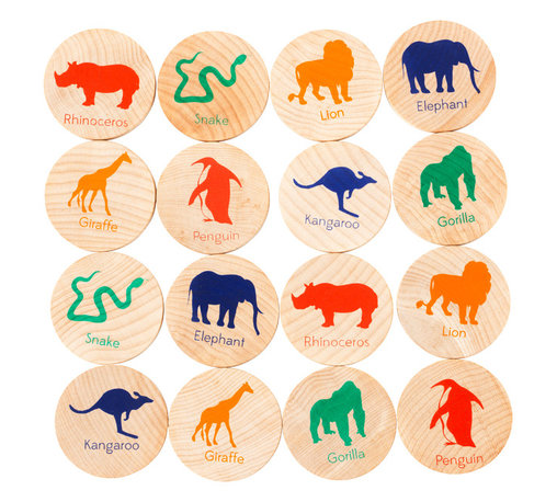 Tree Hopper Toys - Match Stacks - Zoo Animals - A Tree Hopper twist on a classic educational game! MATCH STACKS is a durable, portable, and super cute memory and matching game.