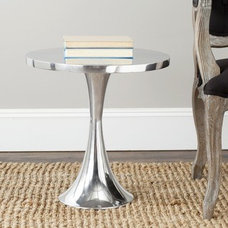 Safavieh Galium Silver Side Table | Overstock.com Shopping - The Best Deals on C