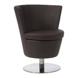 Eurostyle - Eurostyle Squire Swivel Chair in Dark Brown & Stainless Steel - Swivel Chair in Dark Brown & Stainless Steel belongs to Squire Collection by Eurostyle Upholstered in leatherette over foam.Stainless steel base.Swivels.Fully assembled. Swivel Chair (1)