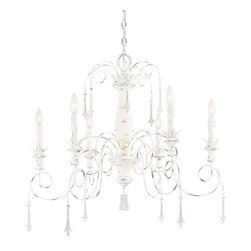 Minka-Lavery - Minka-Lavery Accents Provence 6 Light Chandelier - 1236-648 - This Six Light Up Chandelier has a White Finish and is part of the Accents Provence Collection.
