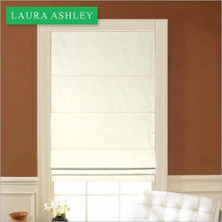 Laura Ashley Flat Roman Shade in Cowslip Perfection - Laura Ashley Flat Roman Shades simple, yet classic styling makes them perfect for any décor. You will enjoy an additional benefit with this style by raising the shade fully and using it as a stylish valance. This beautiful collection of fabrics is inspired by Laura Ashley paint colors. Colors for these shades match those of our drapery panel and valance collections.