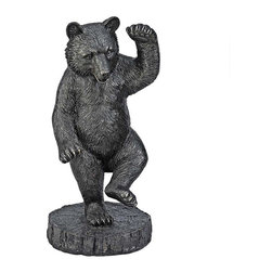EttansPalace - William Holbrook Bear Home Garden Statue Sculpture - Based on the painting, Bear Dance (1870) by artist William Holbrook Beard (1824-1900)?  Straight from a painting admired by bankers and stock brokers for decades, our lumbering bear statue has been sculpted to stand over 2 1/2 feet high. Cast in quality designer resin, our bear sculpture is finished in a rich, faux bronze. While dancing to the almost imperceptible beat of financial investors and wildlife lovers everywhere, our black bear statue makes an unparalleled focal point in den, office or garden.