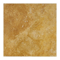 "Tuscany Gold Solid Honed & Filled Travertine Floor Tile 12"" x 12"" - 12"" x 12"" Tuscany Gold Solid Honed & Filled Finish Square Pattern Travertine Floor Tile features amazing color to accent many home interiors. This beautiful travertine tile features a smooth, high-sheen finish and a random variation in tone to help add style to your decor along with your bathroom vanity. Designed for floor, wall and countertop use, this travertine tile is marginally skid resistant to suit your needs. Simply gorgeous tile."