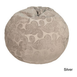 Gold Medal - Extra Large Morocco Patterned Bean Bag - Add comfortable and quirky seating to your basement,living room or dorm decor with this gigantic bean bag. Filled with comfortable polystyrene beans,this plush chair features an exotic paisley pattern and comes in three rich colors.