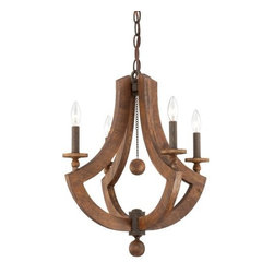 Eurofase - Lenio Chandelier by Eurofase - The bold construction of the Lenio Chandelier by Eurofase adds a rustic flair to interiors. Adorned in classic wooden spheres, Lenio's open profile features two thick anchor-shaped wedges. Elegant bulbs appear set in Lenio's burnished wrought iron candle sleeves, casting a warm glow of illumination. Available in 4-Light, 6-Light, and 8-Light options. Based in Toronto, Canada, Eurofase has been presenting artful and innovative illumination since 1989. They continually promote the use of cost-saving lighting technologies, including LED, halogen and compact fluorescent, in an effort to provide for the lighting needs of an expanding energy efficient culture.