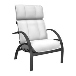 Homecrest - Homecrest Bellaire High Back Chat Chair - B3990-03-BRISTOL - Shop for Chairs and Sofas from Hayneedle.com! If the Homecrest Bellaire High Back Chat Chair were to offer any more support it wouldn't let up until you finally made your way through all those Rosetta Stone disks. Even this chair has its limits but it still manages to keep you in the comfiest position possible no matter the season or occasion. The high back and wide curved arms create a seat that's designed to hold you up and let you relax. Deep supportive cushions are covered in layers of all-weather fabric. This rugged outdoor textile is offered in a number of colors and styles so there's sure to be something there that tickles your outdoor sensibilities. Underneath those ultra-comfy cushions is a frame of rust-proof aluminum with a baked-on powder-coat finish. This durable finish is available in a range of classic colors so start customizing this piece with your own personal style.About Homecrest:The Homecrest brand was founded in 1953 as the offspring of a retail furniture shop in Wadena Minnesota when Mert Bottemiller and Al Engelmann set out to offer the market a better ottoman than those offered by their competitors. This venture soon led to their first line of patio furniture and in 1956 Bottemiller patented the swivel rocker mechanism that is still a central part of the products they produce today from their plant in Minnesota. For almost 60 years the Homecrest brand has been the go-to name for quality outdoor furniture when customers want a sophisticated versatile style that complements their interior decor and expands their lifestyles outside.