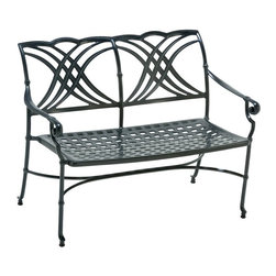 Winston - Winston Coronado 4 ft. Cast Aluminum Bench Multicolor - M49023 - Shop for Benches from Hayneedle.com! Designed for comfort with its dished cast seat and ergonomically formed back the Winston Coronado 4 ft. Cast Aluminum Bench features intricate curls and graceful lines in a beautiful modern pattern. Crafted from solid cast aluminum this quality bench includes a 15-year warranty and is easy to clean with mild soap and water. Available in your choice of finish and with an optional bench pad our Winston product specialists are standing by to help you choose the perfect bench for your outdoor area. No assembly is required.This item includes White Glove Freight Delivery which is a premium service that includes special handling and placement. Upon delivery the service agent will place and unpack your product in the room of your choice (up to two flights of stairs). Removal of packaging material is also included with this service.About Winston Furniture CompanyStarted in 1975 Winston Furniture Company manufactured simple aluminum furniture with virgin vinyl straps. As the popularity of casual furniture increased and consumers craved comfort Winston answered the call by being the first company to introduce cushioned mildew-resistant fabrics for outdoor use. In 1982 Winston was once again at the forefront by adding stylish easy-to-maintain sling furniture to its product line.Today the Winston Furniture line is comprised of cushion and sling furniture with a host of styles. A variety of powder-coated paint finishes and sling colors along with over a hundred fabric selections allow you to create just the look you need. All Winston Furniture products are proudly made in the U.S.A. in a state-of-the-art manufacturing facility in Haleyville Alabama.Winston Furniture Company Inc. has earned several design and service awards from retailers over the past 25 years. The most notable of these honors is the National Association of Casual Furniture Retailers's; (NACFR) Casual Furniture Manufacturer Leadership Award. Since the awards' inception in 1990 Winston is a four-time recipient as well as a finalist every year.
