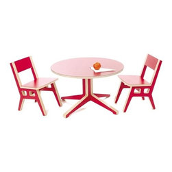 """Context Furniture - Truss Occasional Table and Kids Chair Set - Please note: this product is Made to Order. This item is non-cancellable and non-returnable. All sales are final. The Truss series is an ingenious knock-down series of durable birch ply plastic laminate top furniture. Manufactured in Michigan, the Truss series provides an affordable, attractive and quality alternative to the expensive design offerings from other companies insisting on Chinese manufacturers. An excellent choice for contract or residential use. Available in a variety of colors. Features: -Birch multi-ply and plastic laminate. -Dimensions of Table: 17.5"""" H x 29"""" W x 29"""" D. -Dimensions of Chair: 20.5"""" H x 13"""" W x 15.5"""" D."""