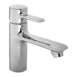 Toto - Toto TL416SD#CP Polished Chrome Aquia Single-Handle Lavatory Faucet - This Toto TL416SD#CP Aquia single-handle lavatory faucet features a rectangular build and modern styling of the Aquia series, and it comes in a polished chrome finish.