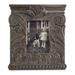 Large Hamlin Carved Wood Frame - Inspired by Greek Neoclassical architecture, the large Hamlin carved wood frame is an excellent accent to any of your favorite photos and looks great with any decor.