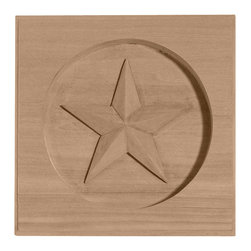 "Ekena Millwork - 3 1/2""W x 3 1/2""H x 5/8""P Austin Star Rosette, Rubberwood - 3 1/2""W x 3 1/2""H x 5/8""P Austin Star Rosette, Rubberwood. Our rosettes are the perfect accent pieces to cabinetry, furniture, fireplace mantels, ceilings, and more. Each pattern is carefully crafted after traditional and historical designs. Each piece comes factory primed and ready for your paint. They can install simply with traditional adhesives and finishing nails."