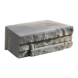 """Anchor 12"""" Charcoal/Tan Wall - 12"""" Charcoal/Tan Ledge Wall Retaining Wall"""