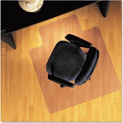 ES Robbins - Lip Chair Mat, Economy Series for Hard Floors - Ultra clear mat designed to preserve and protect the beauty of laminate, wood, tile and other hard flooring. Anti-skid texture on the underside reduces mat movement and keeps mat securely in place. Straight edge. Protects against wear and tear from chair casters. Engineered for optimum clarity, high performance and a smooth effortless roll. Features: -Mat type: Chair Mat.-Application: Hard floor.-Material(s): Vinyl.-Style: Lip.-Backing material: Vinyl.-Surface: Hard floor.-Made in the USA.-Distressed: No.-Country of Manufacture: United States.Dimensions: -45'' H x 53'' W x 0.25'' D, 12.2 lbs.-Overall Width - Side to Side: 45.-Overall Depth - Front to Back: 0.25.-Overall Product Weight: 12.2 lbs.Warranty: -Warranty: 1 Year.