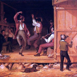 """William Sidney Mount Dance of the Haymakers - 16"""" x 20"""" Premium Archival Print - 16"""" x 20"""" William Sidney Mount Dance of the Haymakers premium archival print reproduced to meet museum quality standards. Our museum quality archival prints are produced using high-precision print technology for a more accurate reproduction printed on high quality, heavyweight matte presentation paper with fade-resistant, archival inks. Our progressive business model allows us to offer works of art to you at the best wholesale pricing, significantly less than art gallery prices, affordable to all. This line of artwork is produced with extra white border space (if you choose to have it framed, for your framer to work with to frame properly or utilize a larger mat and/or frame).  We present a comprehensive collection of exceptional art reproductions byWilliam Sidney Mount."""