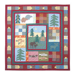 Patch Quilts - Northwood Star, Quilt Twin - Intricately appliqued and beautifully hand quilted. Machine washable, line or flat dry only. Patch Quilts - QTNWST