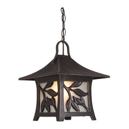 Craftmade - Mandalay Medium Pendant in Antique Bronze - Bulb Type: A-Type. Max Watt: 1x100W. Glass Finish: Frosted. Height: 12.58 in.. Width: 10.8 in.. Type of Fixture: Large Pendant. This Fixture comes with 3' of chain and 6' of wire.