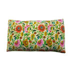 Kim Parker Inc. - Anil's Garden Kantha Pillow Sham - You'll be peaceful as a reclining Buddha with this pillow sham. An enchanted garden of brightly colored flowers blooms across 100 percent cotton from India. And it features Kantha-style embroidery in a horizontal running stripe to enlighten your space and mood. Please note, sham only. Insert not included.