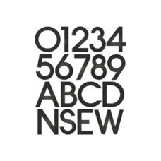 Contemporary House Numbers Blink Contemporary House Numbers, 5 Inch