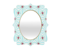 DENY Designs - Hadley Hutton Spring Spring Collection 2 Quatrefoil Mirror - Mirror, mirror on the wall. Who's the fairest one of all? We'll that's easy, the quatrefoil mirror collection, of course! With a sleek mix of baltic birch ply trim that's unique to each piece and a glossy aluminum frame, the rectangular mirror makes you feel oh so pretty every time you catch a glimpse. Custom made in the USA for every order.