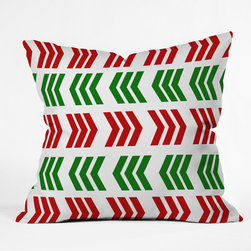 DENY Designs - DENY Designs Lisa Argyropoulos Jolly Zig Zag Throw Pillow - Wanna transform a serious room into a fun, inviting space? Looking to complete a room full of solids with a unique print? Need to add a pop of color to your dull, lackluster space? Accomplish all of the above with one simple, yet powerful home accessory we like to call the DENY Throw Pillow! Available in four sizes, our throw pillow is made from a medium weight woven polyester with a hidden zipper and removable bun insert.