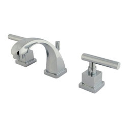 """Kingston Brass - Two Handle 4"""" to 8"""" Mini Widespread Lavatory Faucet with Brass Pop-up KS4941CQL - Two Handle Deck Mount, 3 Hole Sink Application, 4"""" to 8"""" Mini Widespread, Fabricated from solid brass material for durability and reliability, Premium color finish resist tarnishing and corrosion, 1/4 turn On/Off water control mechanism, 1/2"""" IPS male threaded shank inlets, Duraseal washerless cartridge, 2.2 GPM (8.3 LPM) Max at 60 PSI, Integrated removable aerator, 3-7/8"""" spout reach from faucet body, 4-1/2"""" overall height.. Manufacturer: Kingston Brass. Model: KS4941CQL. UPC: 663370037825. Product Name: Kingston Brass Claremont Two Handle 4"""" to 8"""" Mini Widespread Lavatory Faucet with Brass Pop-up. Collection / Series: Claremont. Finish: Polished Chrome. Theme: Contemporary / Modern. Material: Brass. Type: Faucet. Features: Drip-free ceramic cartridge system"""