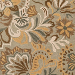 """Loloi Rugs - Loloi Rugs Ashford Collection - Sage / Multi, 7'-6"""" x 9'-6"""" - A classic beauty re-imagined for today, hand-tufted Ashford harnesses the timeless elegance of historically rich floral rug patterns, but updates them with an incredibly calming palette. The loop and pile texture adds depth and visual interest to these rugs, which are handmade in India of 100% wool."""
