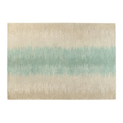 Ligne Pure - Haze Rug - This rug has multiple rows of different colors and thicknesses. The unique color pairings work to create an unexpected appeal.