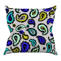 "Kess InHouse - Gabriela Fuente ""Blue Fun"" Throw Pillow (16"" x 16"") - Rest among the art you love. Transform your hang out room into a hip gallery, that's also comfortable. With this pillow you can create an environment that reflects your unique style. It's amazing what a throw pillow can do to complete a room. (Kess InHouse is not responsible for pillow fighting that may occur as the result of creative stimulation)."