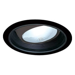 "Nora Lighting - Nora NTM-48 6"" Black Stepped Baffle with Regressed Eyeball, Ntm-48bb - 6"" Black Stepped Baffle with Regressed Eyeball"