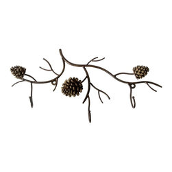 DEI Pinecone Decor Wall Rack - For those who prefer a towel rack with an artistic flair, this pinecone design is ideal. Made of metal and resin, it adds a touch of nature to any bathroom.