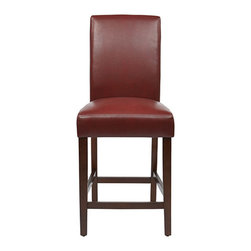 """Office Star - Office Star Metro 24"""" Parsons Counter Stool in Espresso KD 2-Pack (Set of 2) - Features:"""