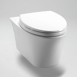 "Toto Maris Elongated Wall-Hung Toilet with SanaGloss CT486FG - 22-1/16""L x 15-1/4""W"