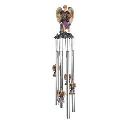 "GSC - 23"" Archangel Barachiel Wind Chime with little Archangels - This gorgeous 23"" Archangel Barachiel Wind Chime with little Archangels has the finest details and highest quality you will find anywhere! 23"" Archangel Barachiel Wind Chime with little Archangels is truly remarkable."