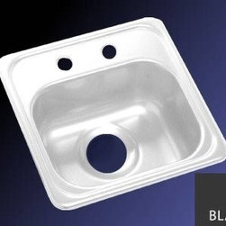 "Lyons Industries - Bar Sink, 15""L x 15""W Single Bowl 6.5"" Deep Acrylic, 3.5"" Drain Opening, Black - Lyons Industries Single Bowl Black acrylic bar sink 6.5"" deep with two faucet holes on 4"" centers and a 3.5"" drain opening. This standard self rimming 15"" x 15"" sink is easy to install as a remodel or new construction project. This sturdy sink has durable easy to clean high gloss acrylic construction with a fiberglass reinforced insulation backer. This sink is quiet and provides a superior heat retention than other sink materials meaning your water stays warm longer. Lyons sinks come with a simple mounting tab and clip system to firmly fasten the sink to the countertop and reinforced drain areas for safely supporting a garbage disposal. Detailed installation instructions include the cut-out specifications. Lyons sinks are proudly Made in America by experienced artisans supporting our economy."