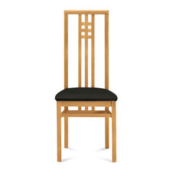 """Domitalia - Scala Chair in Toulouse Black/Walnut - Set of 2 - Scala Chair in Toulouse Black/Walnut - Set of 2; Color: Toulouse Black; Finish: Walnut; Beechwood frame; Upholstered seat; No assembly required.; Made in Italy; Dimensions: 41.5"""" H x 18.25"""" W x 20.5"""" D"""