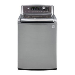 LG - WT5070CV 4.7 cu. ft. Capacity Top Load Washer with 12 Wash Cycles  Auto Water Ad - This top load washing machine can handle a large job at 47 cu ft of load Spinning at 1100 RPMs with 12 cycles this washing machine will keep your clothes clean Having trouble The smart diagnosis features helps you diagnose problems over the phone or ...