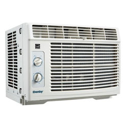 "Danby - Danby 5,000 BTU window Air Conditioner - 5,000 BTU air conditioner cools approximately 150 sq. ft., Energy Efficiency Rating (EER) of 9.7, environmentally friendly R410A refrigerant, mechanical controls, removable air filter is easy to clean, variable temperature control (17 degrees C - 30 degrees C), 2 fan speeds and 2 way air direction, expandable window installation kit accomodates windows from 23 4/16"" - 36 4/16"" wide, minimum window height required is 13"" (33.0 cm). Unit dimensions 16 4/16"" W x 13 12/16"" D x 12 5/16"" H"