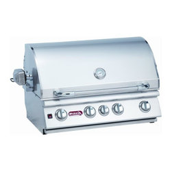 Bull - Bull BBQ Angus 4-Burner 30'' SS Built-In NG Barbecue Grill - This is an Island Component grill. Installation required. The Angus grill is a 4-Burner 30 Stainless Steel Built-In Gas Barbecue Grill - Infrared Back Burner. It is also one of our most popular grills.- 75,000 BTU's -304, 16 Gauge Stainless Steel Construction -Four cast stainless burners -Infrared burner 15,000 BTU's -Single Piece Dual Lined Hood -Piezo igniters/Zinc Knobs -Solid Stainless Steel Grates -Heavy Duty Thermometer -Warming Rack 210 Sq. in.-SS Rotisserie Motor -Twin Lighting System -Smoker Box -Cooking Surface 810 Sq. in.-CSA Approved -Weight: 153 lbs.