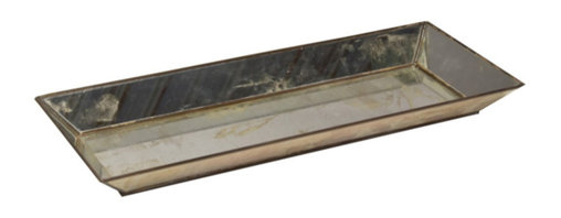 Worlds Away - Worlds Away - Rectangular Antique Mirror Tray - Tray Amr - Worlds Away touches the home with marvelous of-the-moment treasures inspired by vintage finishes, patterns and styles. Boldly geometric, this rectangular tray serves eye-catching style to contemporary tabletops. Perfect as a living room or bedroom accent, the metallic accessory shines with radiant antique mirror surfaces.