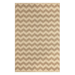 """Trans-Ocean - Zig Zag Neutral 39"""" x 59"""" Indoor/Outdoor Flatweave Rug - Amazingly detailed pattern and beautifully blended yarns make this Machine Made rug rise above the rest. Wilton Woven in India of 100% Polypropylene and UV stabilized for Indoor or Outdoor use. A tight weave of Polypropylene allows for maximum design and textural appeal, and creates the look of natural fibers but is easy care."""