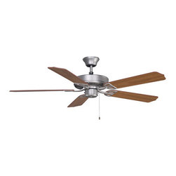 """Fanimation - Fanimation BP230SN Aire Decor Energy Star 5 Blade 52"""" Ceiling Fan - Blades Inclu - FanimationAireDecor Builder PackCeiling Fan with bladesThe FanimationBuilder series is priced right for the job. Includes bladesand downrod.Features:"""