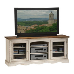 Hillsdale Furniture - Hillsdale Wilshire 66 Inch Entertainment Console - The Wilshire collection features a blend of cottage styling with country accented details. The blend of Americana and English country gives the Wilshire collection a look and feel that will enhance any home. The craftsmanship is evident in each piece. Opening a drawer is a reflection of old world craftsmanship, complete with tongue and groove drawer bottoms, English dovetail drawer construction and thick solid wood drawers. Finishes have been painstakingly applied to give years of enjoyment.