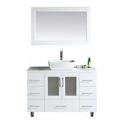 "Design Element - Design Element B48-VS-W Stanton 48"" Single Sink Vanity Set with Vessel Sink - Design Element B48-VS-W Stanton 48"" Single Sink Vanity Set with Vessel Sink in White"