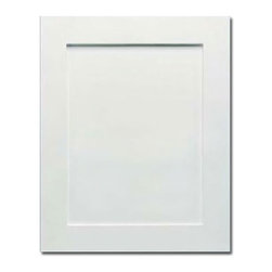 CabinetNow - White Shaker Cabinet Doors - Beautiful white thermofoil cabinet doors look fantastic in your kitchen. Rigid thermofoil lasts, color won't fade. Is scratch, dent resistant and won't chip or peel like paint. These sturdy white cabinet doors clean easily with soap and water. Custom size